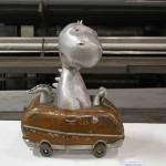 Dinosaur in the Car - by Erik Lowe
