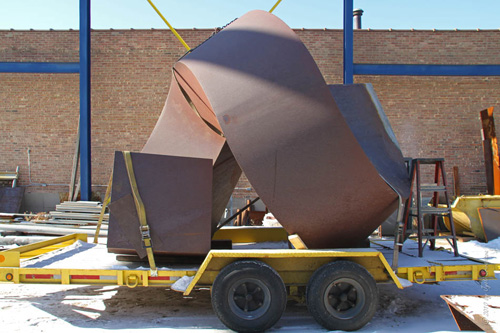 Spiral - by Clement Meadmore, in Vector yard