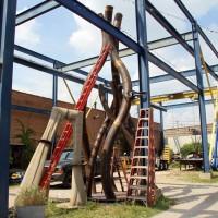 Assembled Metal Lotus - in Vector yard