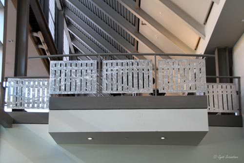 Ornamental staircase in Eskenazi Hall at Herron School of Art and Design