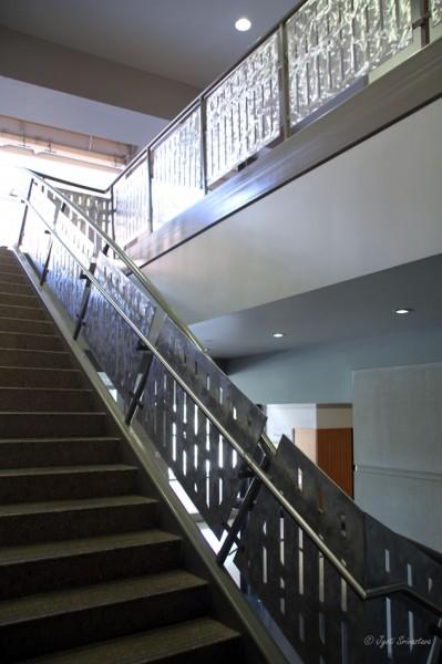 Ornamental staircase in Eskenazi Hall
