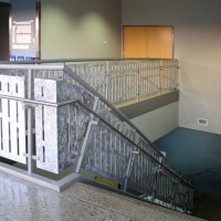Ornamental staircase in Eskenazi Hall